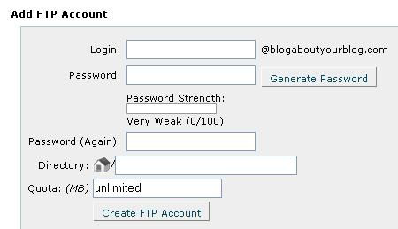 how to add ftp account in plesk