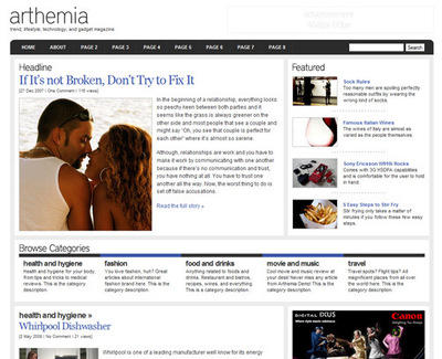 Arthemia Wordpress Theme Demo